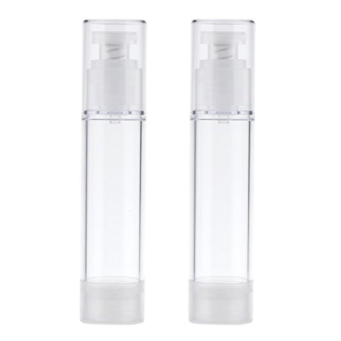 締め切り変更ゴールデン2個 ポンプボトル エアレスボトル ポンプディスペンサー コスメ DIY 詰替え 香水ボトル 3サイズ選べる - 50ml