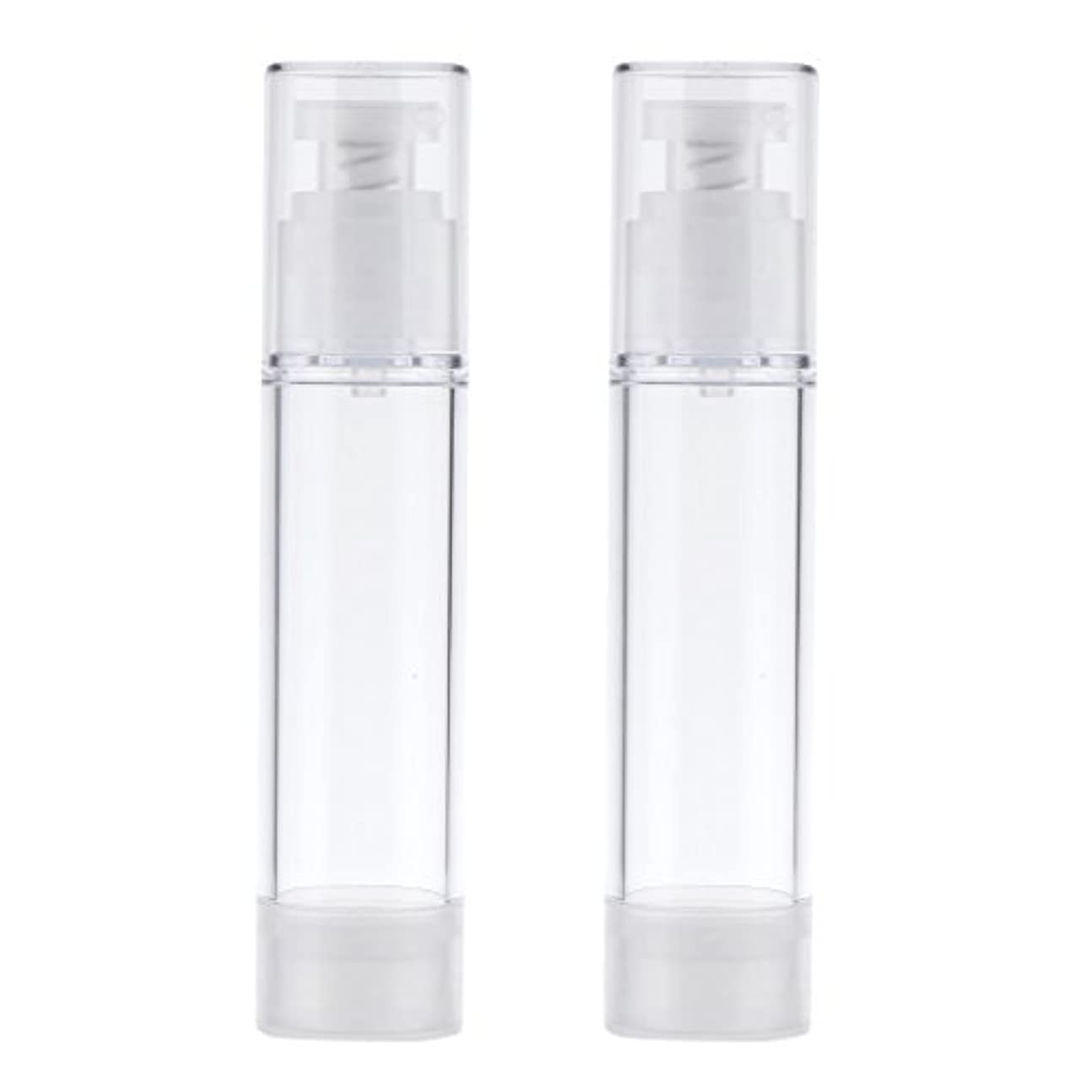 置き場タイトルショット2個 ポンプボトル エアレスボトル ポンプディスペンサー コスメ DIY 詰替え 香水ボトル 3サイズ選べる - 50ml