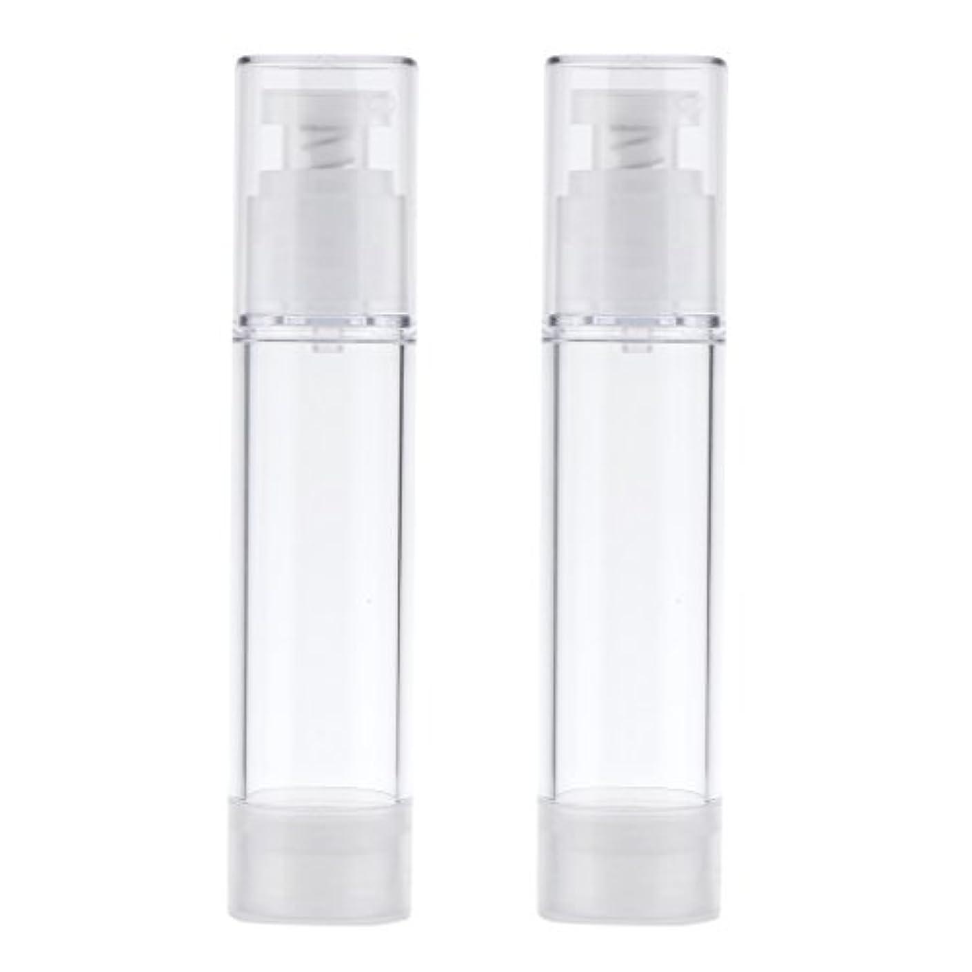 バルコニー抵抗する練習2個 ポンプボトル エアレスボトル ポンプディスペンサー コスメ DIY 詰替え 香水ボトル 3サイズ選べる - 50ml
