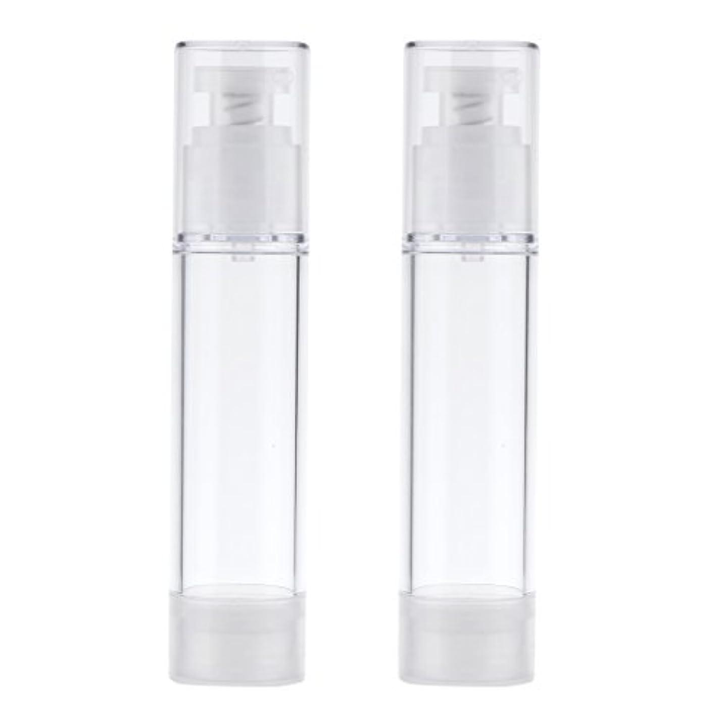 災難マットピストルBlesiya 2個 空ボトル ポンプボトル ローション コスメ ティック クリームボトル エアレスポンプディスペンサー 3サイズ選べる - 50ml