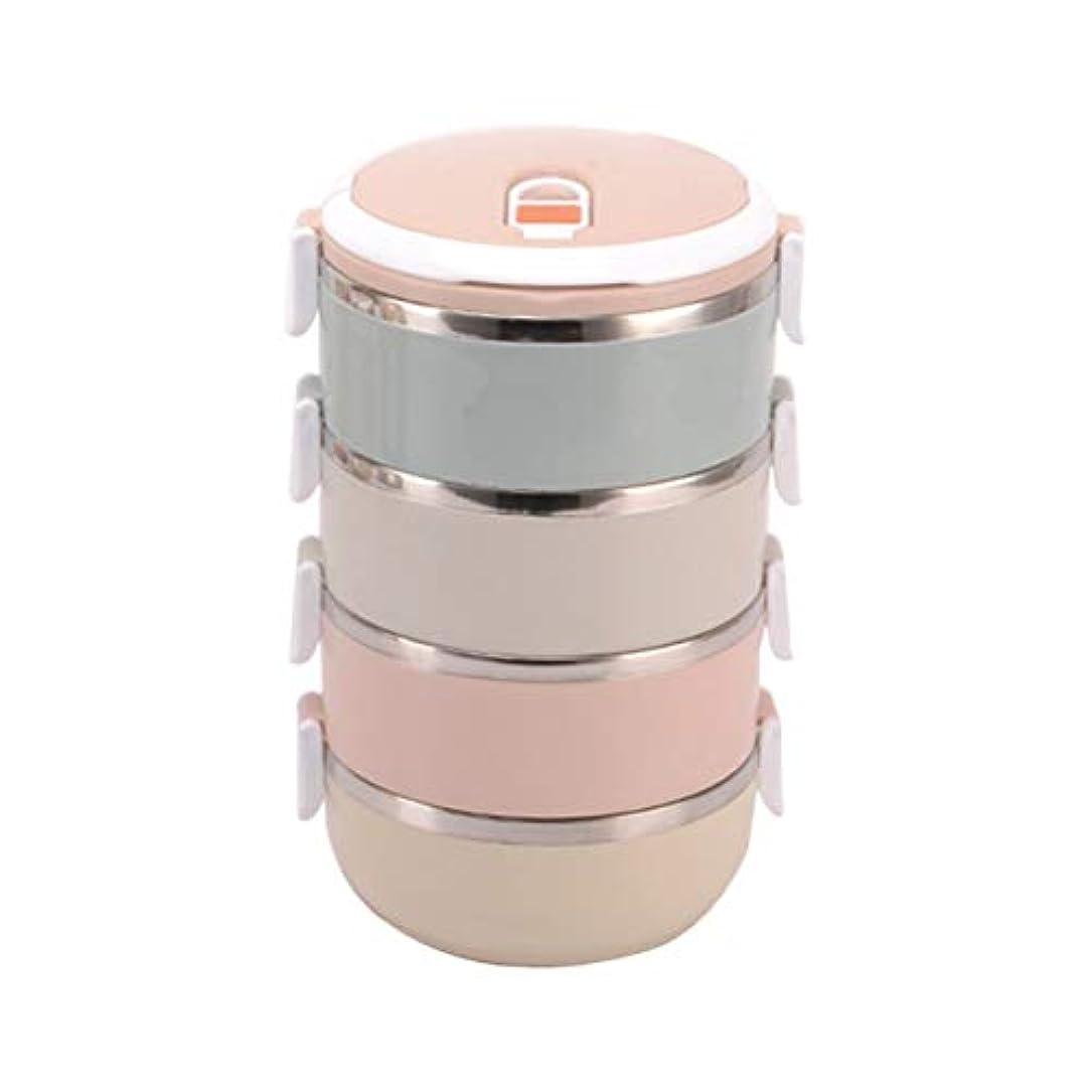 ルネッサンスブラストラップSaikogoods スタイリッシュなポータブル大容量ステンレスランチボックス食品容器キッズ大人のピクニック単一のマルチレイヤーボックス マルチカラー