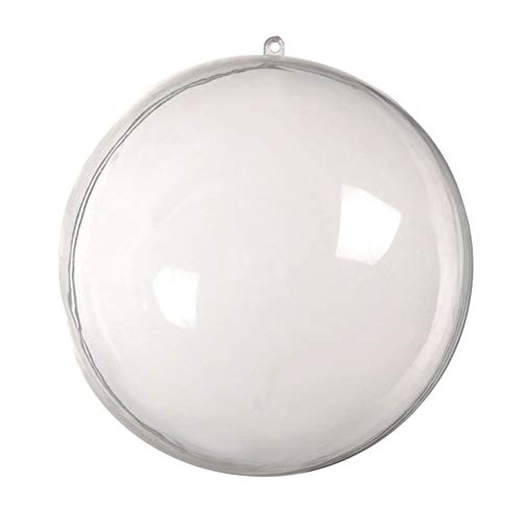 相互接続前食器棚アリガドクリアプラスチッククリスマスボール、クリア透明ボール、球充填クリスマスツリー飾りDIYクラフトつまらない飾り(5個)