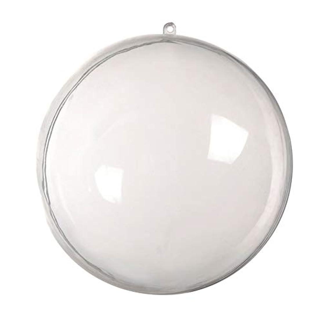 投資するオール悪意アリガドクリアプラスチッククリスマスボール、クリア透明ボール、球充填クリスマスツリー飾りDIYクラフトつまらない飾り(5個)