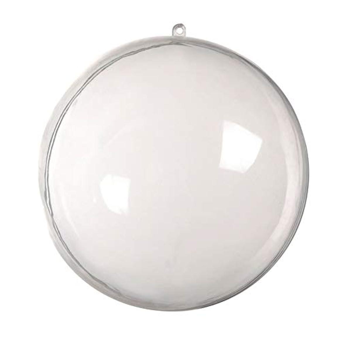 着陸重量紳士アリガドクリアプラスチッククリスマスボール、クリア透明ボール、球充填クリスマスツリー飾りDIYクラフトつまらない飾り(5個)