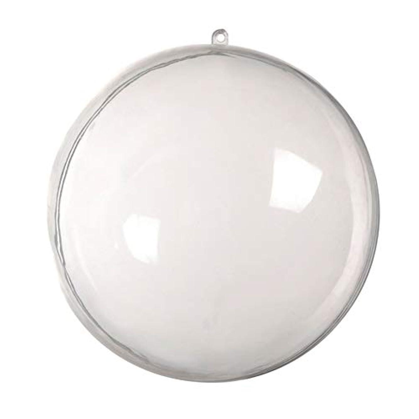 くつろぐタイトル年金受給者アリガドクリアプラスチッククリスマスボール、クリア透明ボール、球充填クリスマスツリー飾りDIYクラフトつまらない飾り(5個)