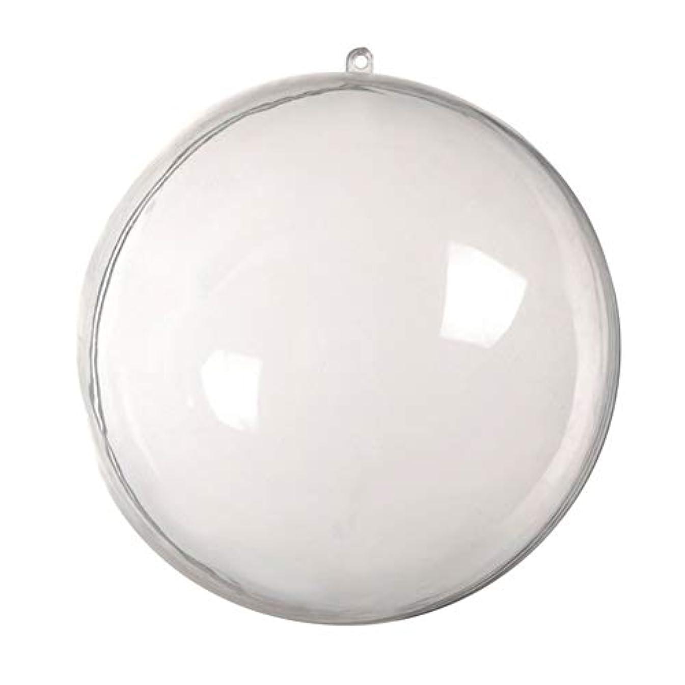 急ぐ経済テクトニックアリガドクリアプラスチッククリスマスボール、クリア透明ボール、球充填クリスマスツリー飾りDIYクラフトつまらない飾り(5個)