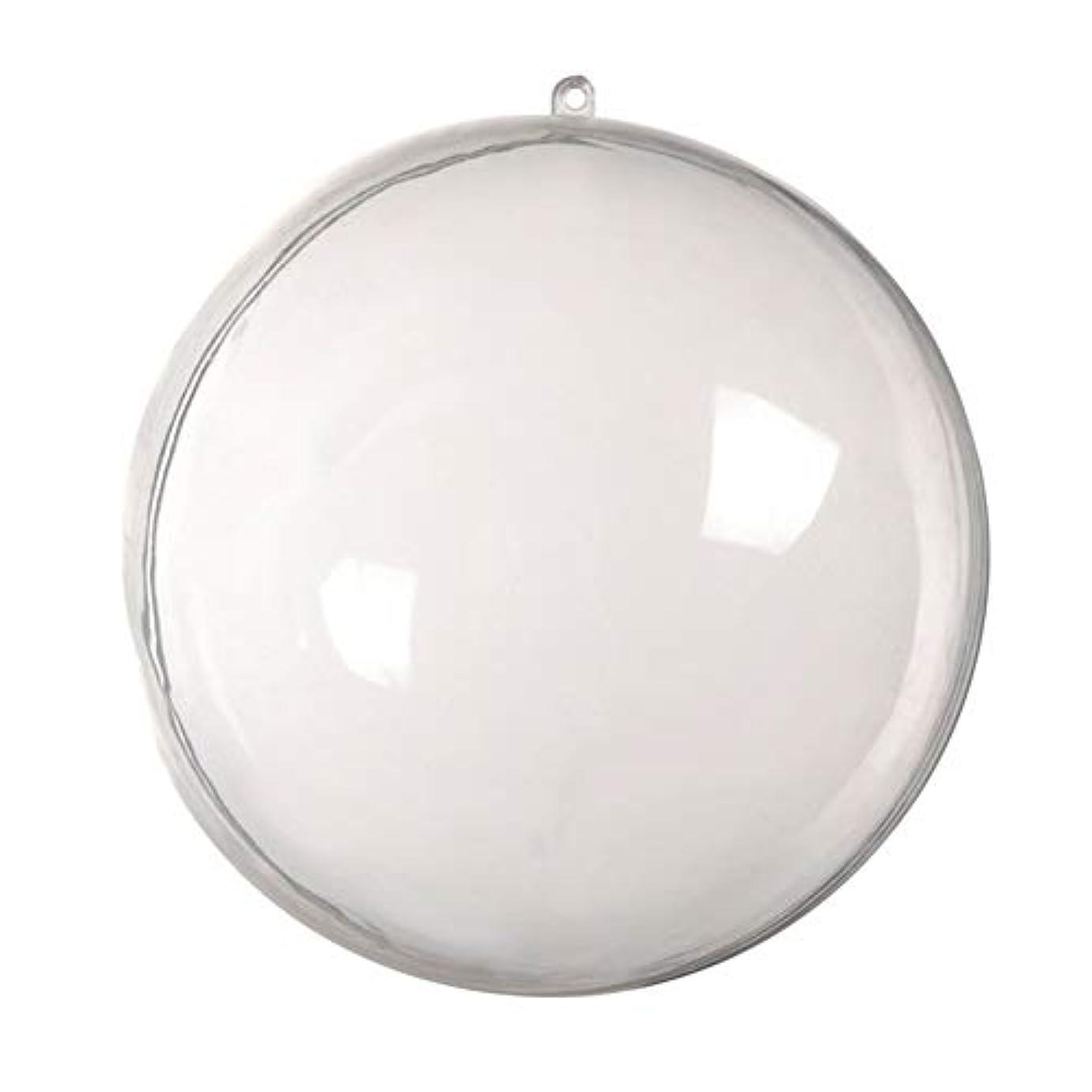 ドックその間生物学アリガドクリアプラスチッククリスマスボール、クリア透明ボール、球充填クリスマスツリー飾りDIYクラフトつまらない飾り(5個)