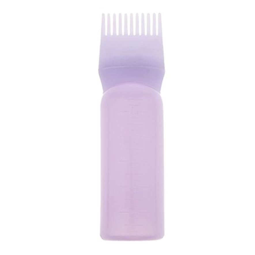 鎮痛剤農夫細心のルートコームヘアダイボトルアプリケーターサロンヘアカラーディスペンサーブラシ(120ml) - 紫
