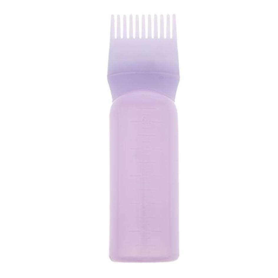 ティッシュ些細なグラディスルートコームヘアダイボトルアプリケーターサロンヘアカラーディスペンサーブラシ - 紫