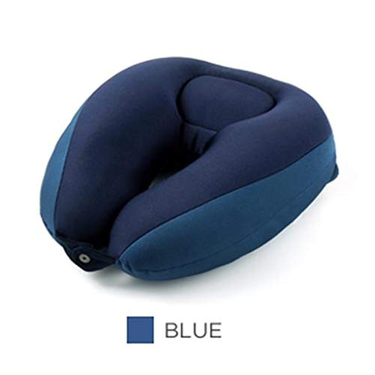 ちらつきオーバーフローヒップDYHOZZ コンパクトなU字型首枕サポート枕、車のヘッドレストシエスタ枕、3色のオプション32 cm×33 cm×13 cm U字型の枕 (色 : B)