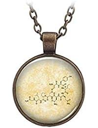 オキシトシンの宝石?ガラスのペンダントのネックレスは、化学?科学?ジュエリー