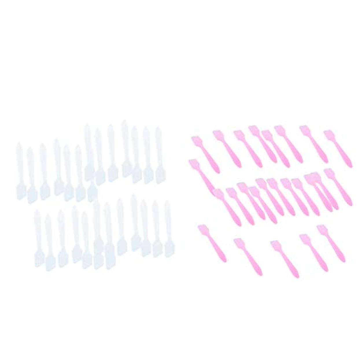 マージン姓抵当フェイシャル フェイスマスク混合ツール 化粧品へら 約200個 全2選択 - 白+ピンク