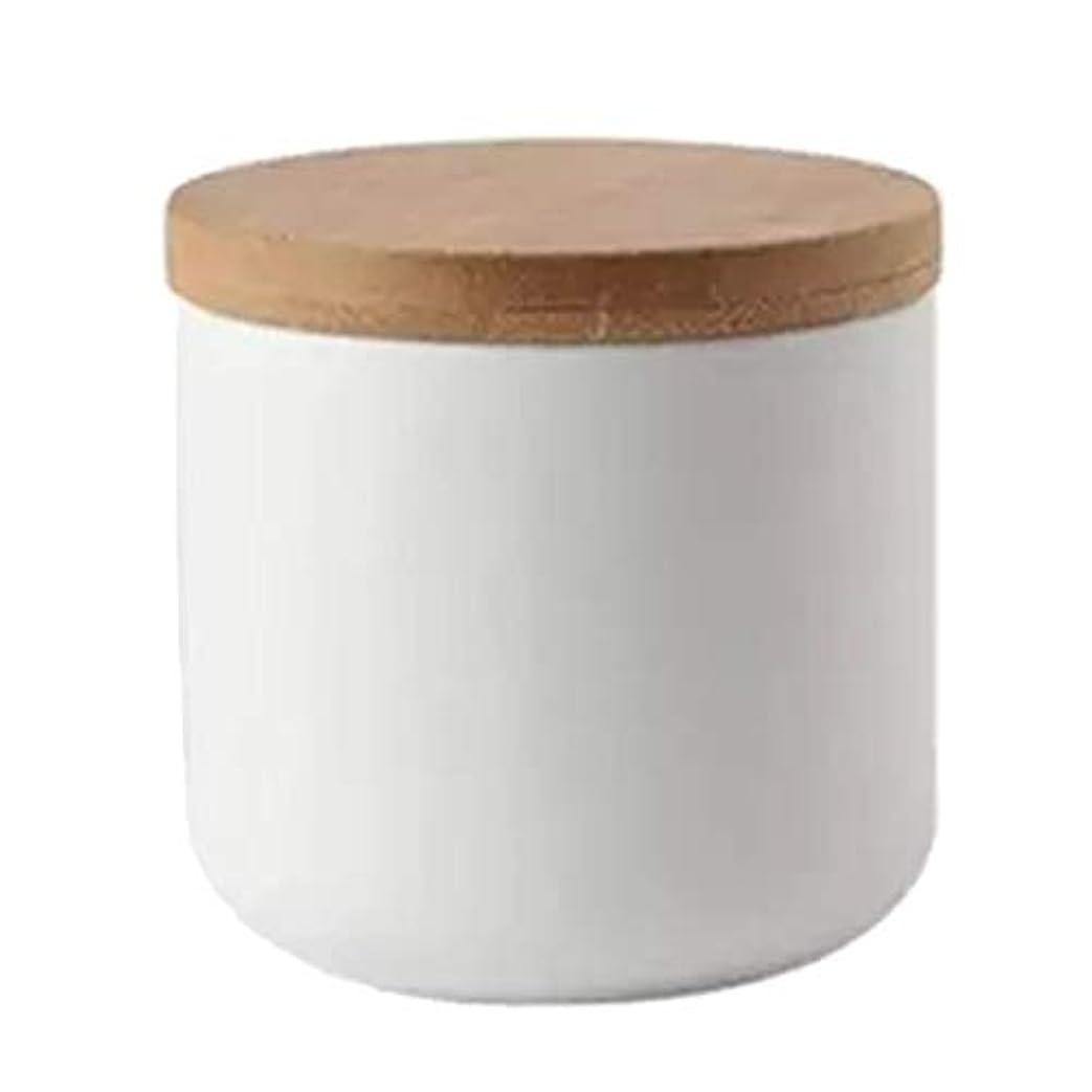 有毒な皮肉な商人化粧品ポット 収納 ボウル ネイルアートリムーバー アルコール ネイルリキッド パウダー コンテナ 全2色 - 白い