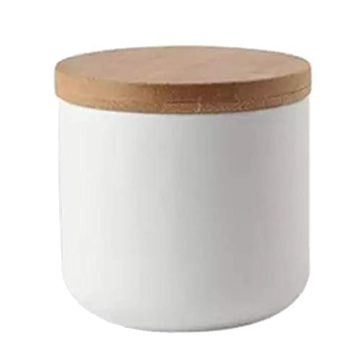 放射する何か算術化粧品ポット 収納 ボウル ネイルアートリムーバー アルコール ネイルリキッド パウダー コンテナ 全2色 - 白い