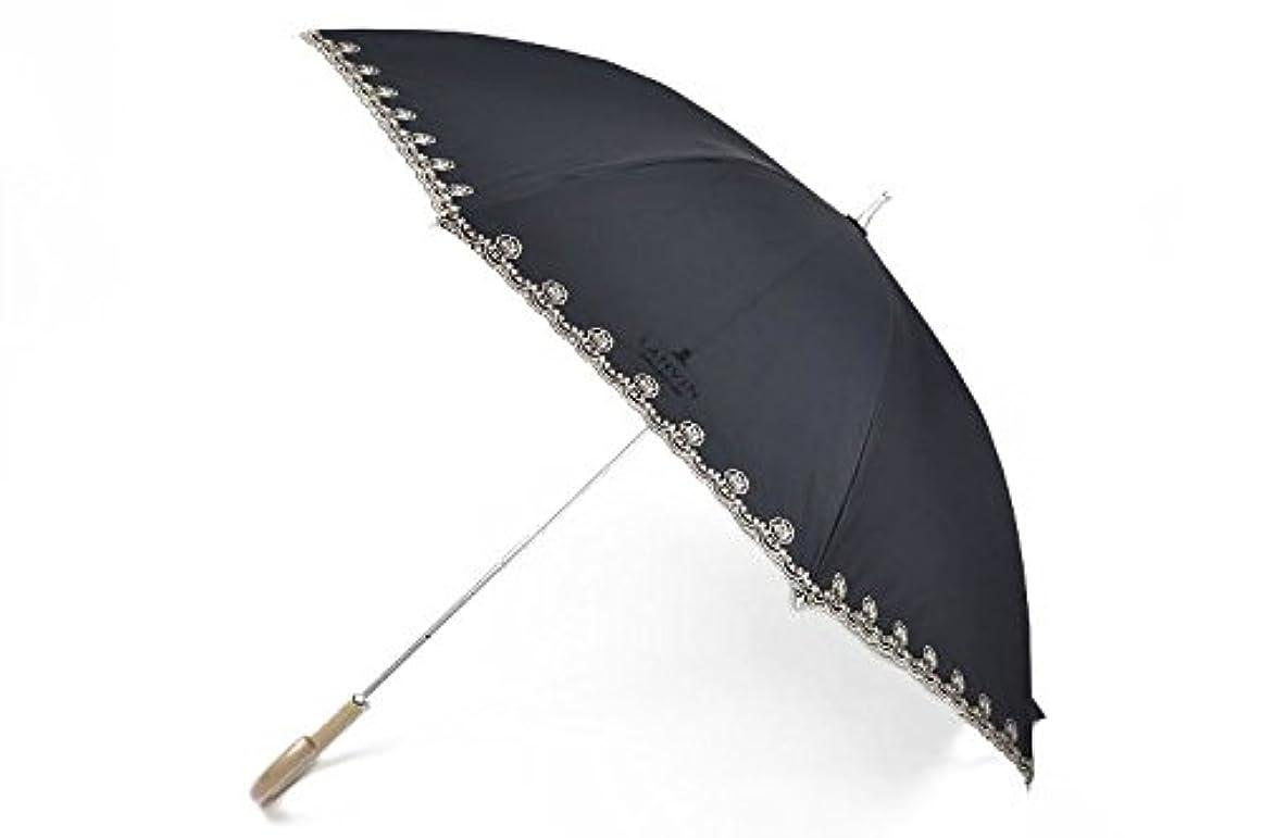 屈辱するミシン目のために(ランバン) LANVIN 日傘 レディース バラ 刺繍 遮光 黒 パラソル