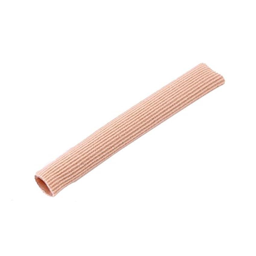才能不快なハチファブリックジェルチューブ包帯指&つま先保護足の足の痛みを軽減15CMフィートガード用足の保護用インソール(ピンク)