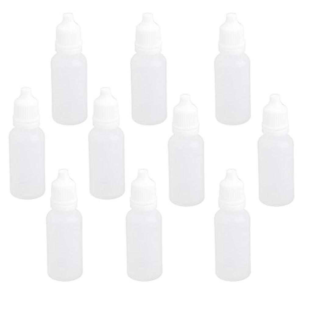 決めます分数ネーピア【ノーブランド品】ドロッパーボトル 点眼 液体 貯蔵用 滴瓶 プラスチック製 10個 (15ml)