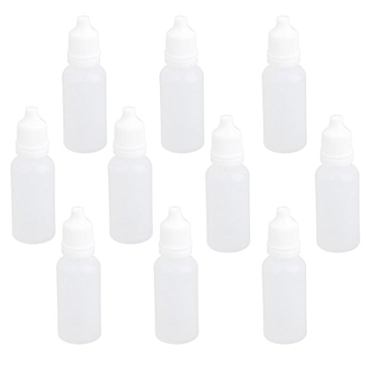 ルート人事シェード【ノーブランド品】ドロッパーボトル 点眼 液体 貯蔵用 滴瓶 プラスチック製 10個 (15ml)