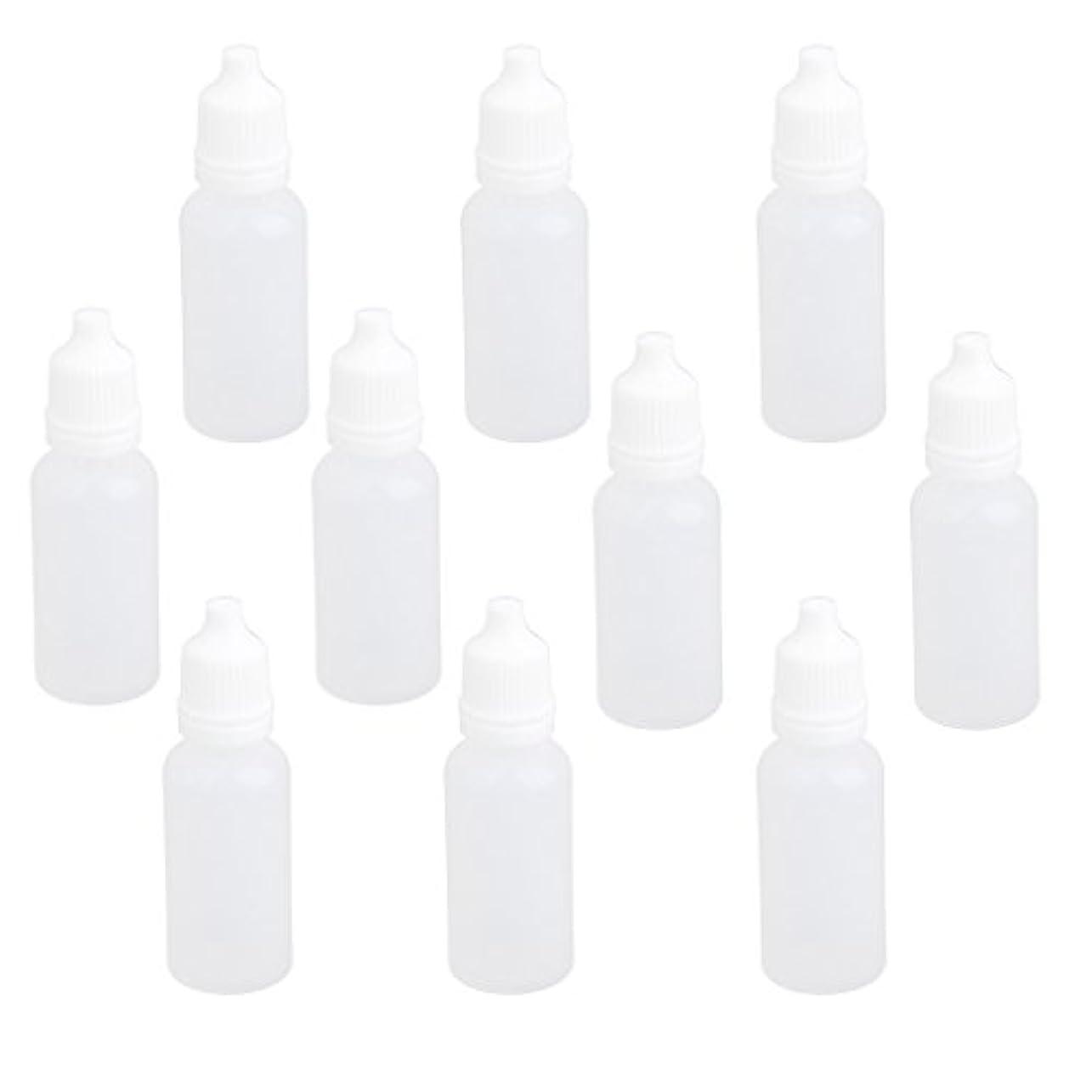 スイッチ国民アラスカ【ノーブランド品】ドロッパーボトル 点眼 液体 貯蔵用 滴瓶 プラスチック製 10個 (15ml)