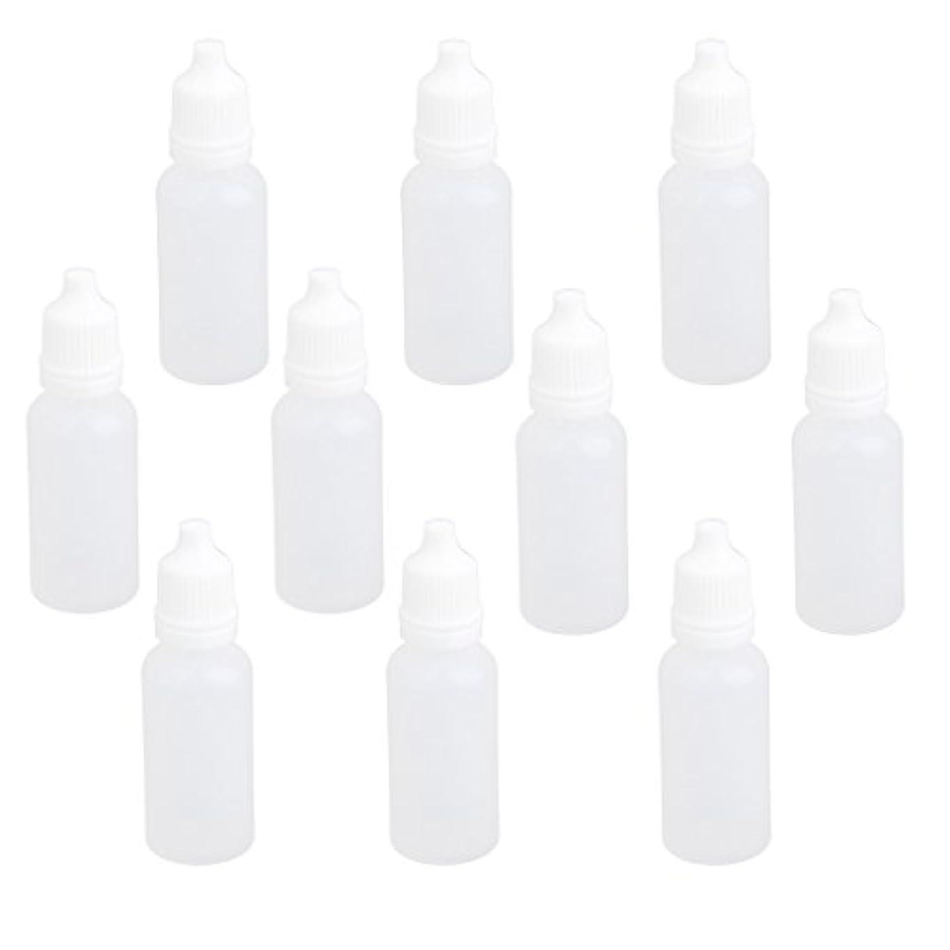 取り扱いあいにく針【ノーブランド品】ドロッパーボトル 点眼 液体 貯蔵用 滴瓶 プラスチック製 10個 (15ml)