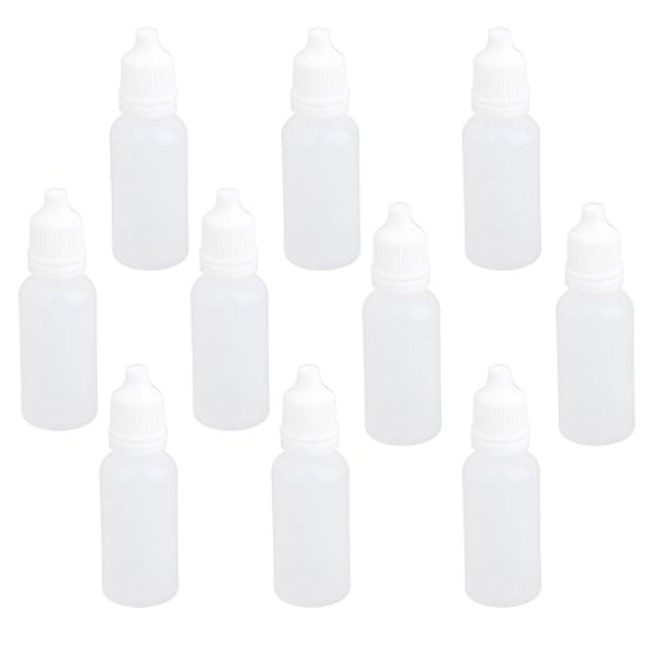 紛争モディッシュマンモス【ノーブランド品】ドロッパーボトル 点眼 液体 貯蔵用 滴瓶 プラスチック製 10個 (15ml)