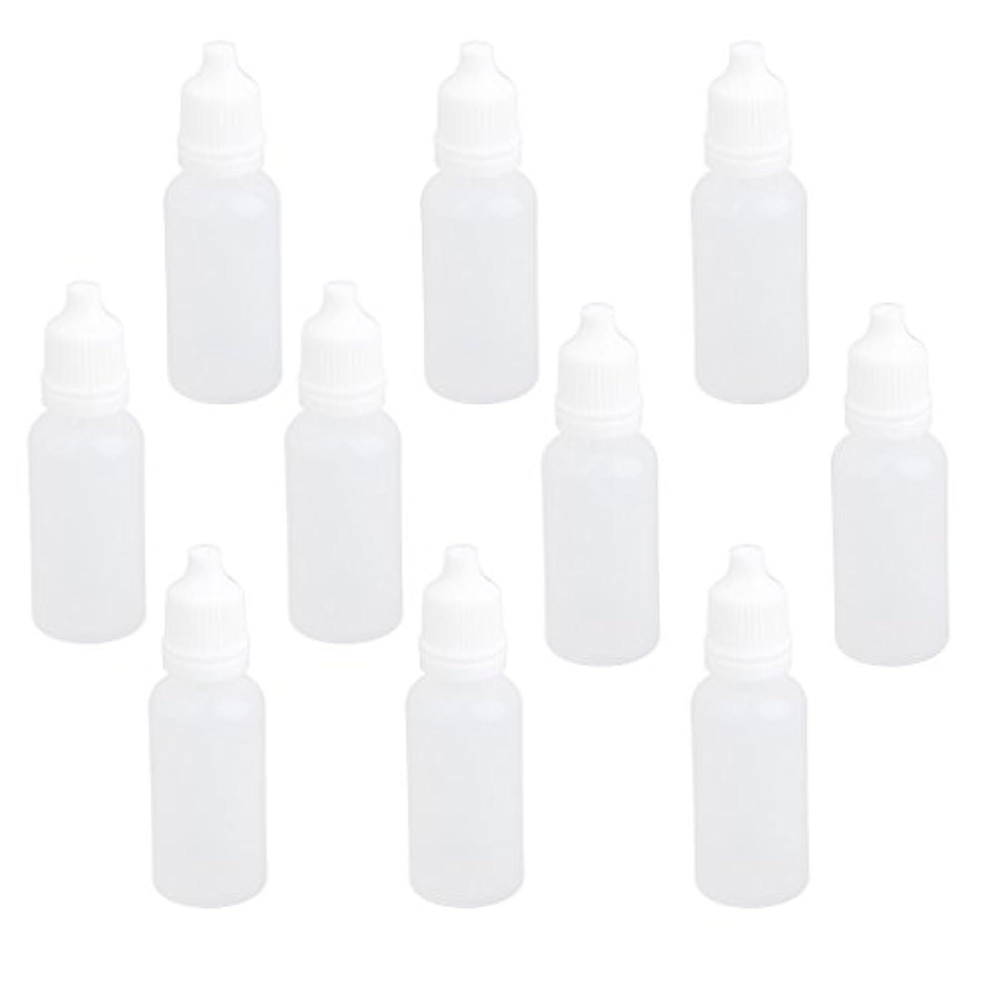 彼女の草政令【ノーブランド品】ドロッパーボトル 点眼 液体 貯蔵用 滴瓶 プラスチック製 10個 (15ml)