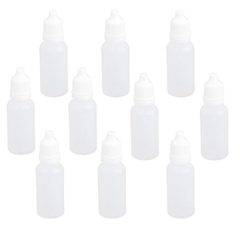 【ノーブランド品】ドロッパーボトル 点眼 液体 貯蔵用 滴瓶 プラスチック製 10個 (15ml)
