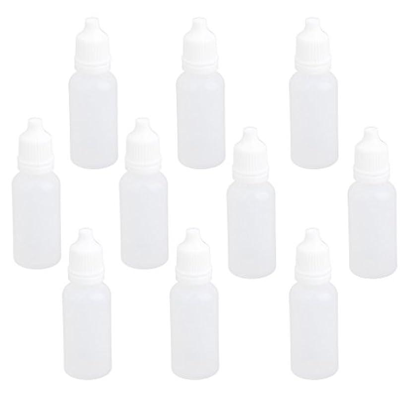 ありがたい不忠グラス【ノーブランド品】ドロッパーボトル 点眼 液体 貯蔵用 滴瓶 プラスチック製 10個 (15ml)