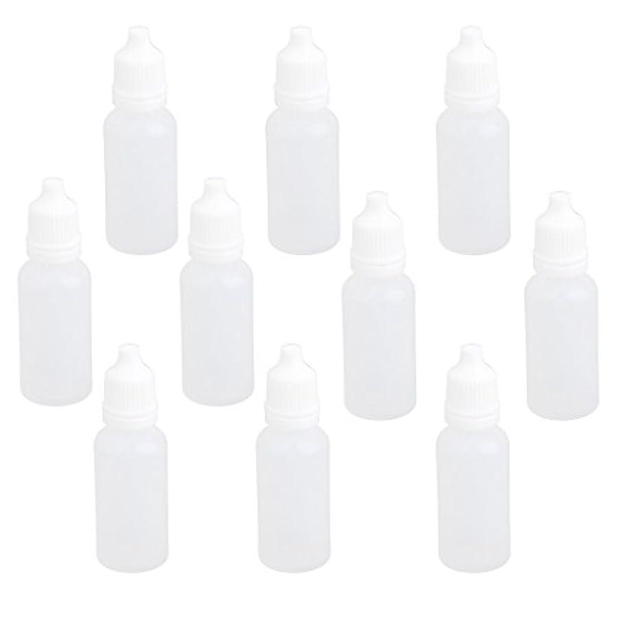 住人寸前エンジニアリング【ノーブランド品】ドロッパーボトル 点眼 液体 貯蔵用 滴瓶 プラスチック製 10個 (15ml)