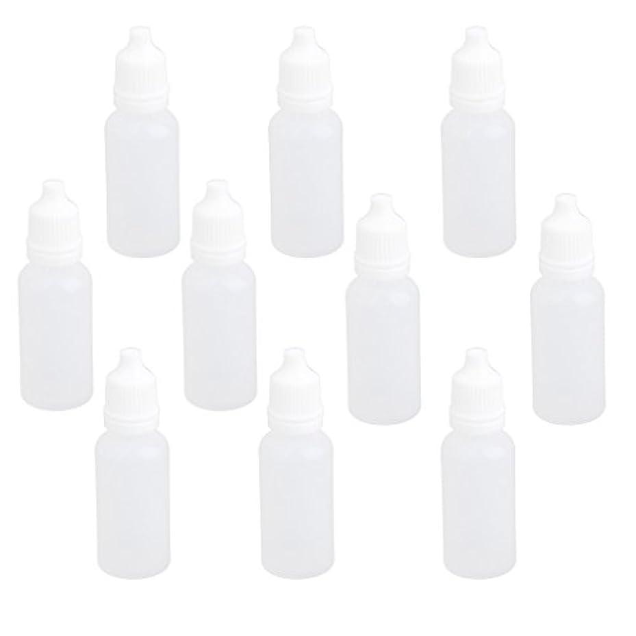 する必要があるチャンピオンシップ授業料【ノーブランド品】ドロッパーボトル 点眼 液体 貯蔵用 滴瓶 プラスチック製 10個 (15ml)