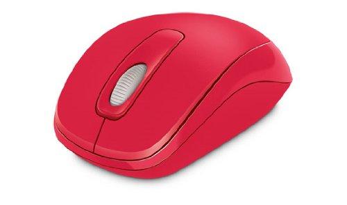 Microsoftマウス–光学式1000–ワイヤレス–3ボタン(S)–レッド–ラジオ
