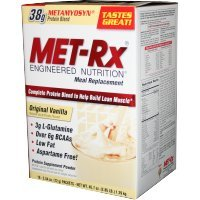 MET-Rx - Meal Replacement Protein Supplement Powder Original Vanilla - 18 Packet(s) CLEARANCE PRICED by MET-Rx