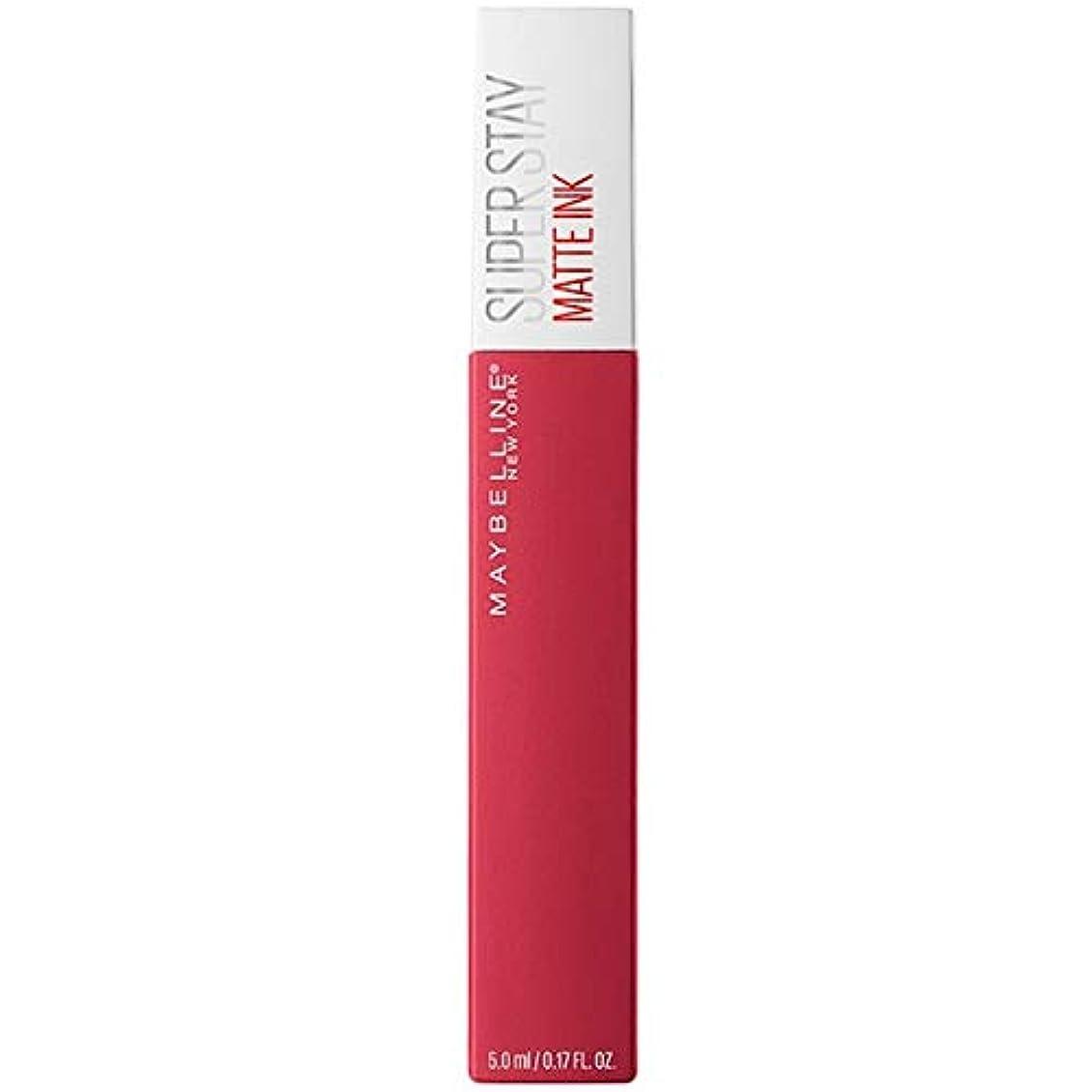 レンダーミケランジェロ現代の[Maybelline ] メイベリンSuperstayマットインク液口紅80定規5ミリリットル - Maybelline Superstay Matte Ink Liquid Lipstick 80 Ruler 5ml...
