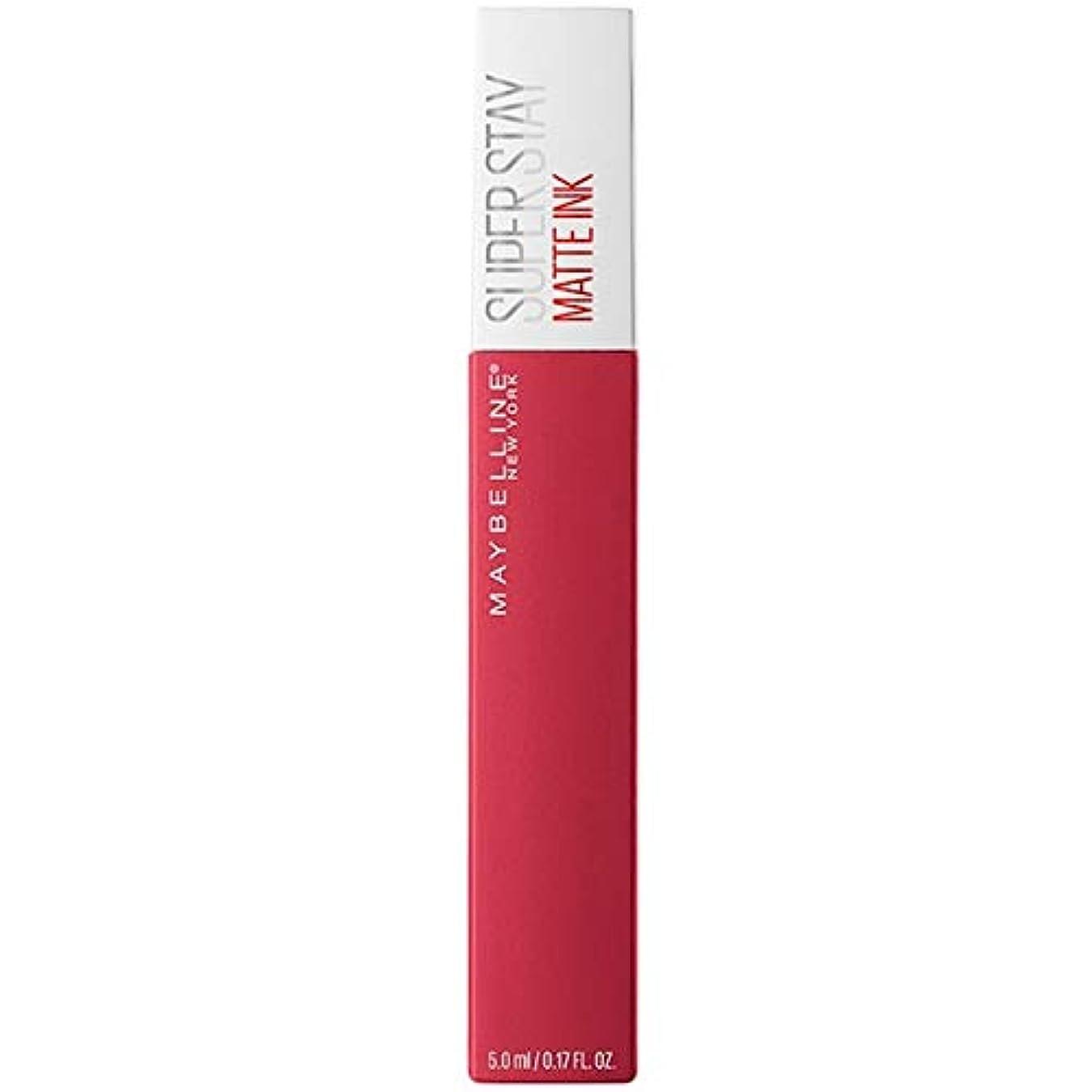 道マンモス比類なき[Maybelline ] メイベリンSuperstayマットインク液口紅80定規5ミリリットル - Maybelline Superstay Matte Ink Liquid Lipstick 80 Ruler 5ml...