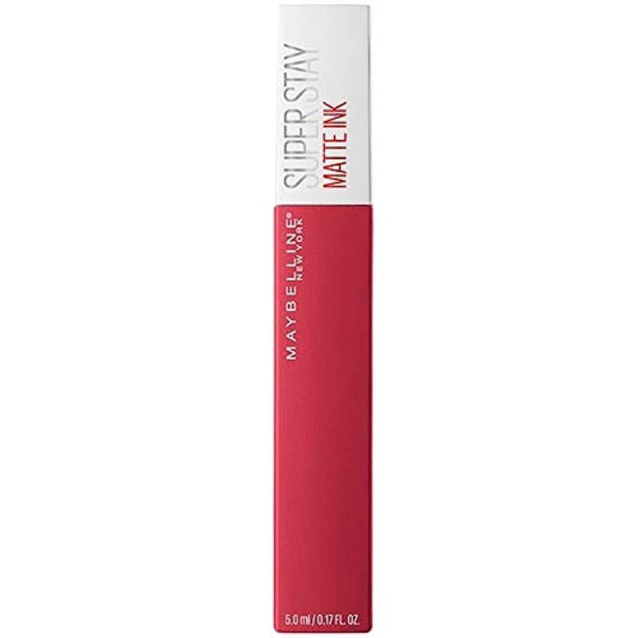 完全に乾くトレーステンポ[Maybelline ] メイベリンSuperstayマットインク液口紅80定規5ミリリットル - Maybelline Superstay Matte Ink Liquid Lipstick 80 Ruler 5ml...