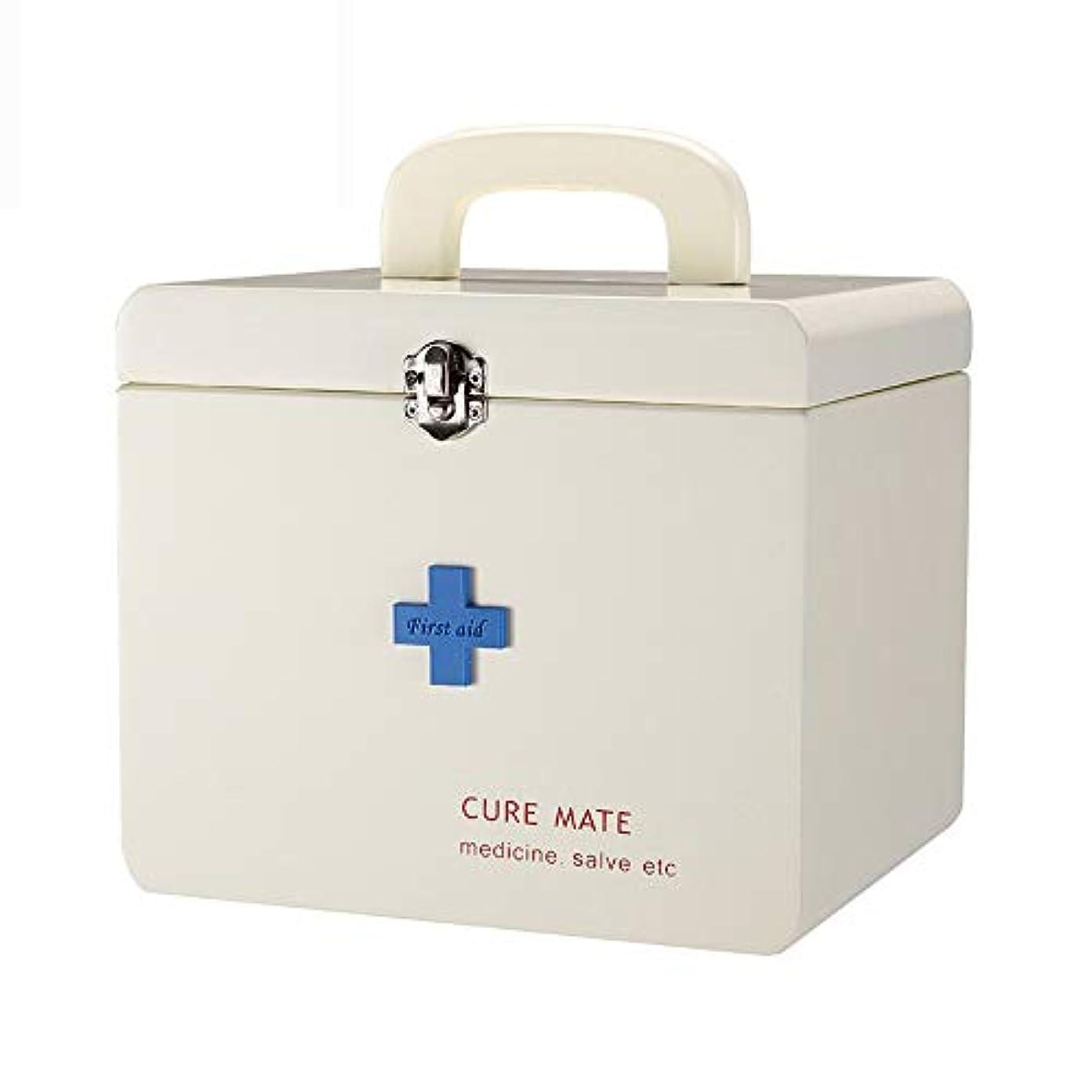 ドラッグ収納ボックス 医療ボックス - MDF材料、シンプルな木製の二重層の層収納ポータブルポータブル耐久性のある環境保護非毒性の安全性、家庭用薬ボックス健康ボックス薬収納ボックス、オフィススクール緊急医療キット医療ボックス...