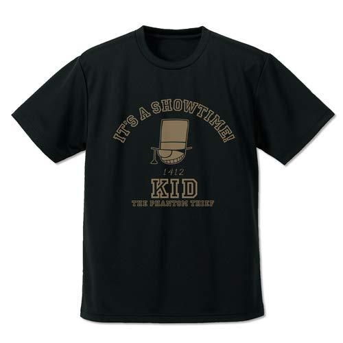名探偵コナン 怪盗キッド アイコンマーク ドライTシャツ ブラック Mサイズ