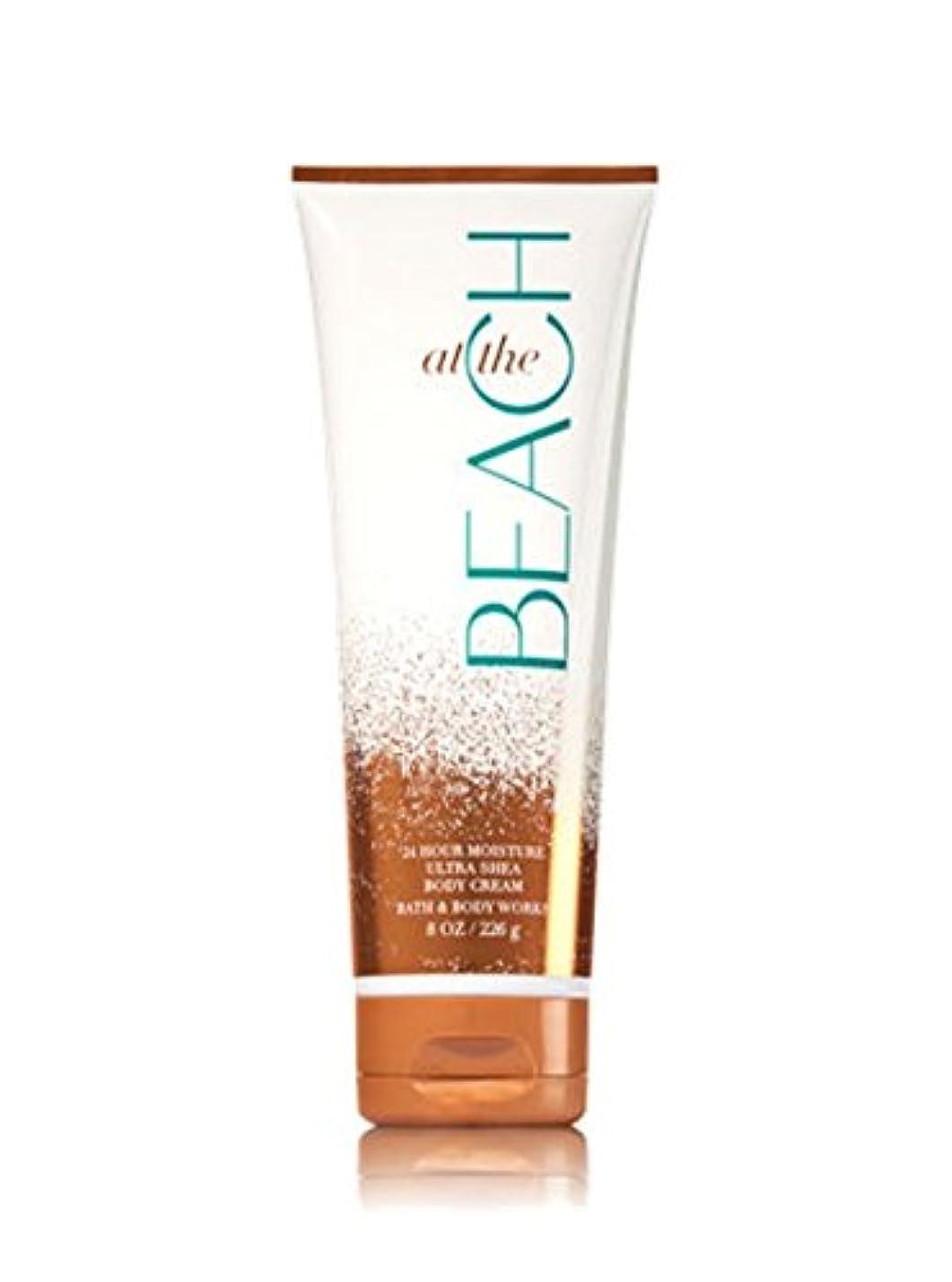 ブリリアント始まりトロリー【Bath&Body Works/バス&ボディワークス】 ボディクリーム アットザビーチ Ultra Shea Body Cream At The Beach 8 oz / 226 g [並行輸入品]