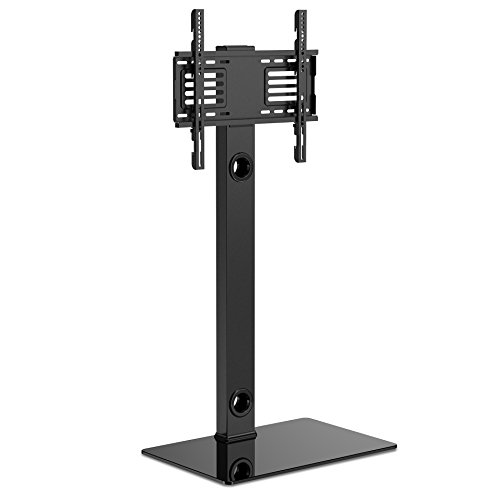 FITUEYES テレビスタンド 32~60インチ対応 壁寄せテレビスタンド 高さ調節可能 ラック回転可能ブラック TT106002MB