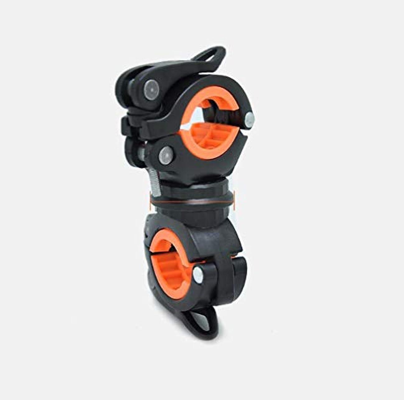 ヒューム登る鳩OnKJ自転車 ライトホルダー ラバー オートバイク 固定ブラケット 懐中電灯ホルダー 多機能 360度回転 操作簡単 サイズ調整可能