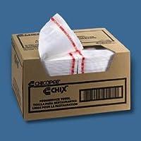 フードサービスタオルwith Microban、ホワイト/レッド、13.5X 24、150タオルperケース。