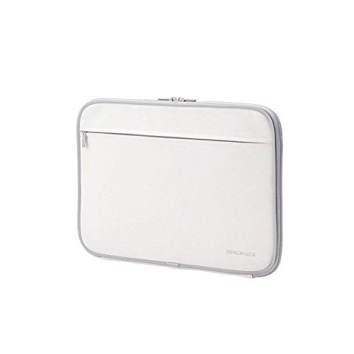 bac003522d エレコム インナーバック 衝撃吸収 ZEROSHOCK Macbook対応 13.3インチ 収納ポケット付 ホワイト ZSB-IBNM13WH  ○インナーバッグ0○メーカー直送品に付き、お支払い ...