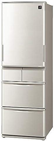 シャープ SHARP プラズマクラスター冷蔵庫 どっちもドア(両開き・鋼鈑タイプ) 幅60.0cm スリムタイプ 412L 5ドア シルバー SJ-W412F-S