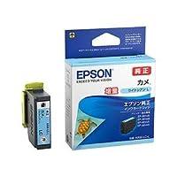(まとめ)エプソン インクカートリッジ カメライトシアンL(増量) KAM-LC-L 1個 【×3セット】 〈簡易梱包