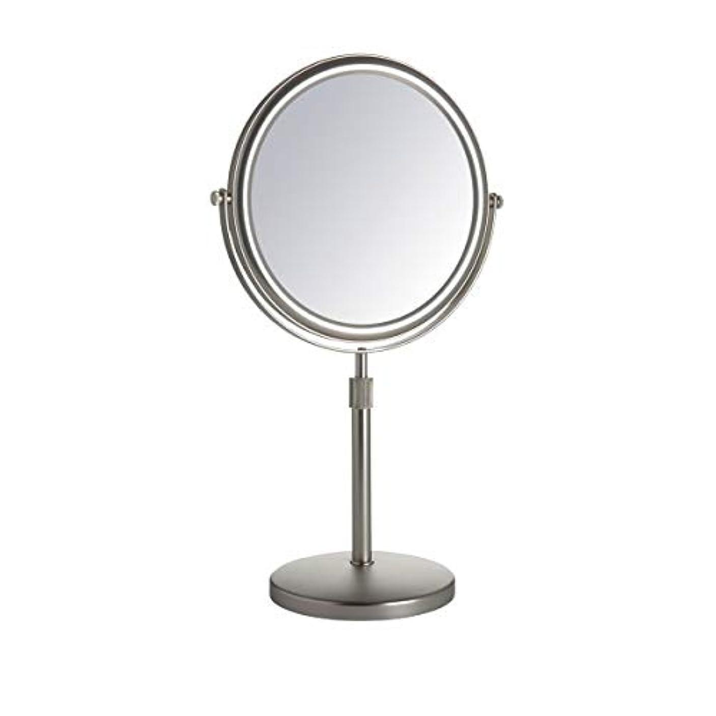 尊敬電話をかけるよく話されるJerdon(ジェルドン) / JP4045N (ニッケル) 《拡大鏡》 [鏡面 直径20cm] 【5倍率/等倍率】 卓上型テーブルミラー