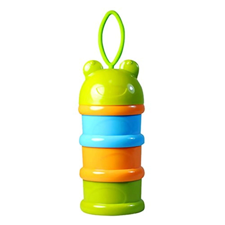 Baosity 全2色 離乳食ケース 3層ストック 保存容器 お出かけ用 - 緑