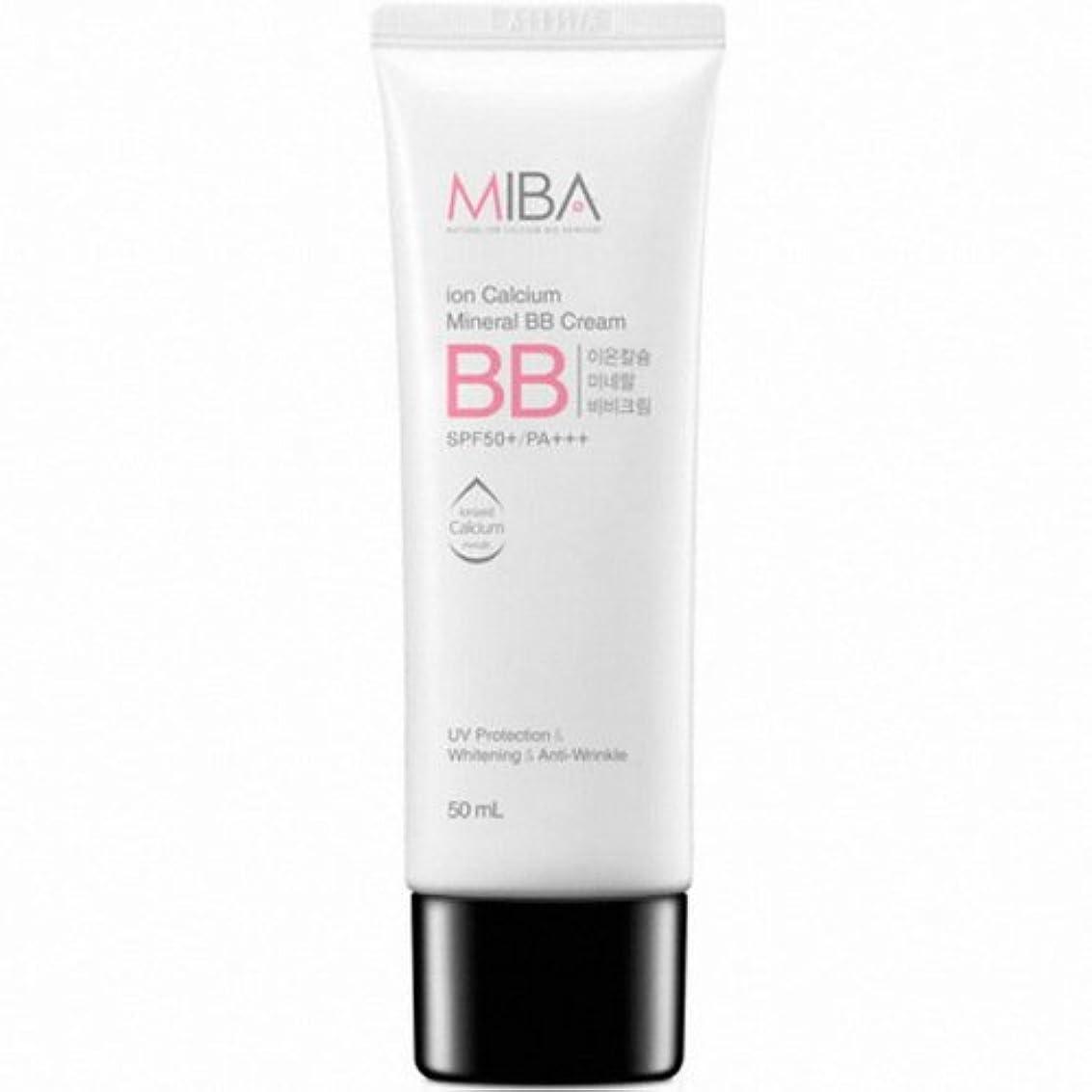 心から動的添付MINERALBIO (ミネラルバイオ) ミバ イオン カルシウム ミネラル ビビクリーム / MIBA Ion Calcium Mineral BB Cream (50ml) [並行輸入品]