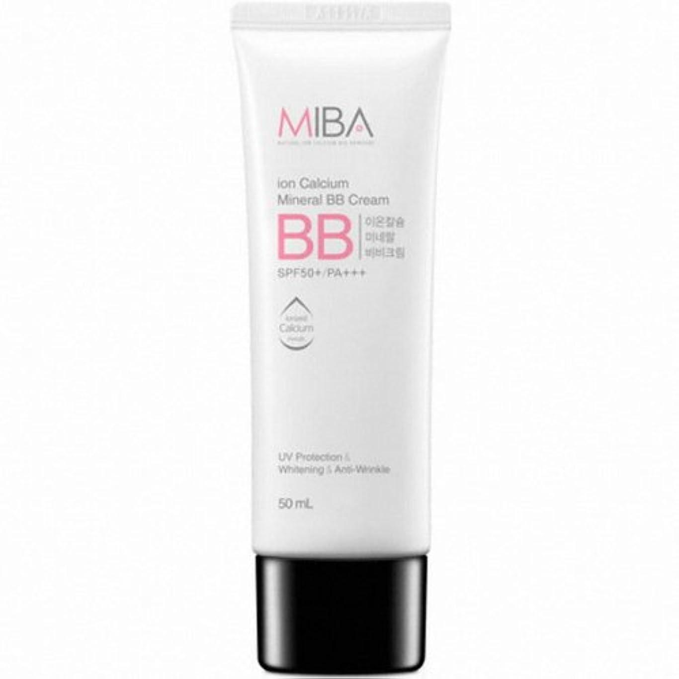 ピルビート差別的MINERALBIO (ミネラルバイオ) ミバ イオン カルシウム ミネラル ビビクリーム / MIBA Ion Calcium Mineral BB Cream (50ml) [並行輸入品]