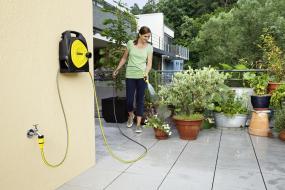 庭やマンションのベランダでの使用に便利