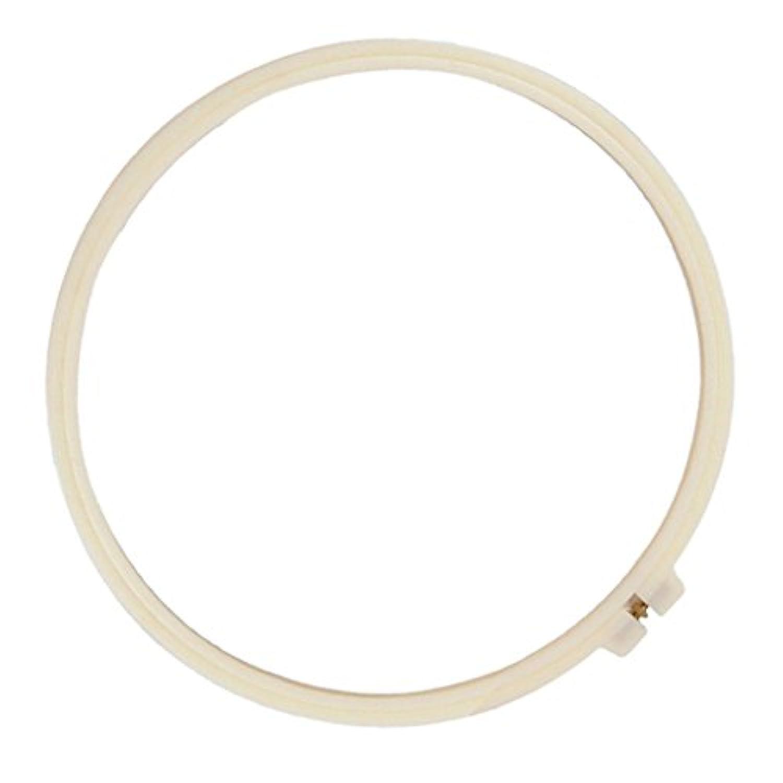 Outfun 白 手芸 クロスステッチ 刺繍 フープ 枠 キルティング用 刺しゅう枠 全3サイズ - 9センチメートル